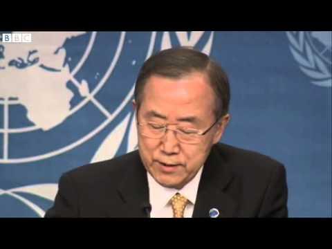 Tình hình Syria: Ban Ki-moon phát biểu:
