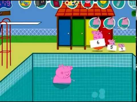 Peppa pig il bagno in piscina youtube for Peppa pig piscina
