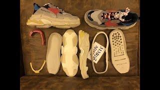 b53284578 313街区深度解析版本对比年度鞋王巴黎世家复古做旧跑鞋Balenciaga