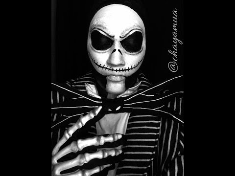 Jack Skellington Makeup Tutorial Nightmare before Christmas