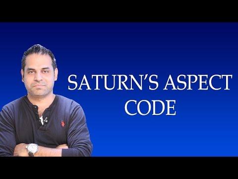 Secret Code of Saturn aspects in Vedic Astrology