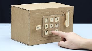 Build a Safe with Combination Number Lock from Cardboard