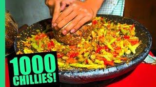 EXTREME Spicy Food Challenge in Jakarta! HUGE 32 Kinds of Sambal and LEVEL 5 Seblak!
