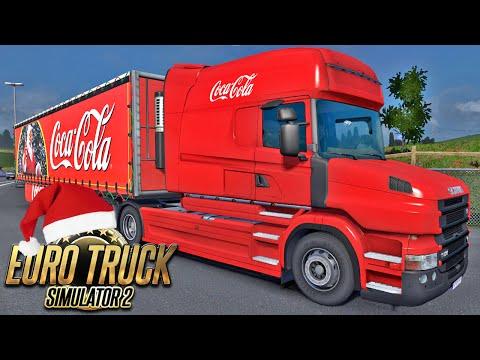 Caminhão de Natal da Coca Cola - Euro Truck Simulator 2
