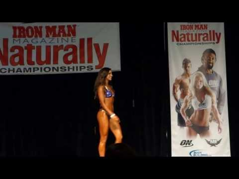 How competitiors enter the stage and pose during an NPC bikini competition prejudging
