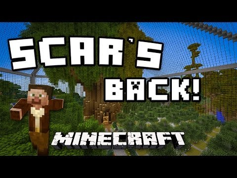 tutorial: Minecraft:  Scar Is Back!    (Resource Gathering At The Scarland Tree Farm)