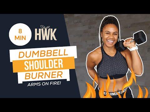 8 Minute Upper Body Shoulder Burner Workout (The Best Finisher for Arms!)