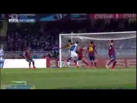 Real Sociedad 3 - 1 Barcelona (1 - 0 OG Alex Song) 22.02.2014