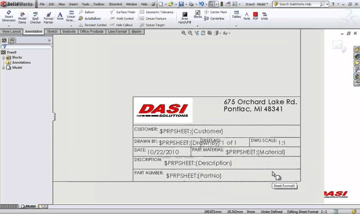 Solidworks Title Blocks In 10 Minutes Youtube