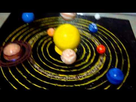maqueta sistema planetario solar con movimiento colegio cesar vallejo 6091