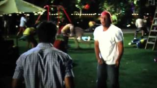 Adam Sandler Vs Taylor Lautner Fight @ Grown Ups 2