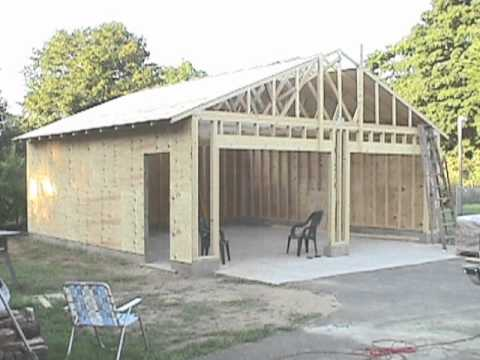 Building your own 24'X24' garage and save money. Steps from concrete ...