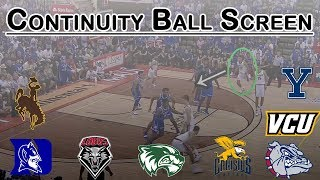 The Most Run Play in College Basketball: Continuity Ball Screen