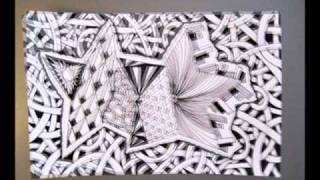 Stacked Stars Zentangle Inspired Art