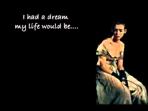 I Dreamed A Dream- Anne Hathway version w/ Lyrics