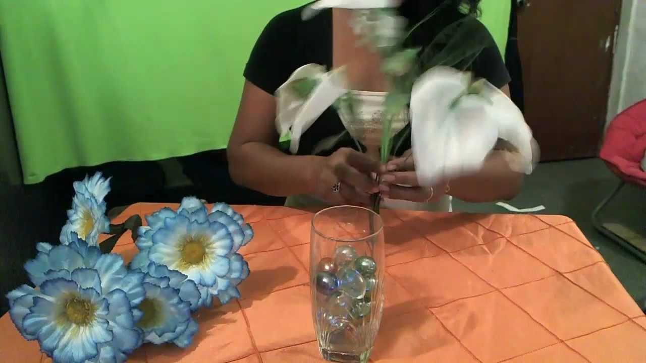 Como reciclar vasos para floreros youtube - Como decorar jarrones ...