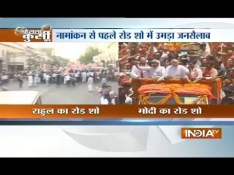 The day of road show Modi vs Rahul Gandhi