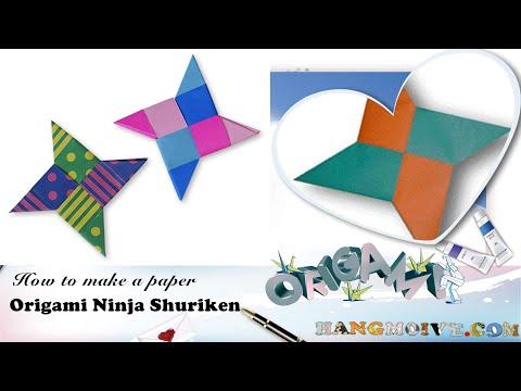 Cách gấp phi tiêu Ninja bằng giấy Origami - Video hướng dẫn