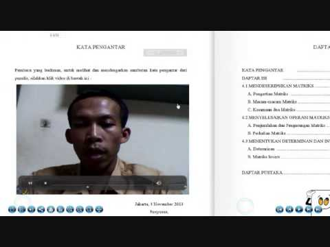 Video Bahan Ajar Digibook Matriks Pak Sukani 2013