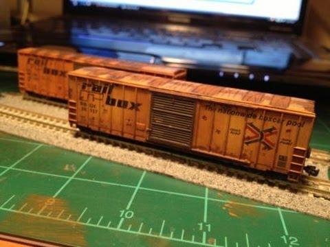 Weathering ho train cars amtrak