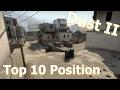 CSGO Top 10 Positions on Dust 2