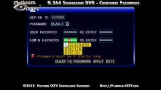 Setup Network Passwords DVR-700x Series H.264 Standalone