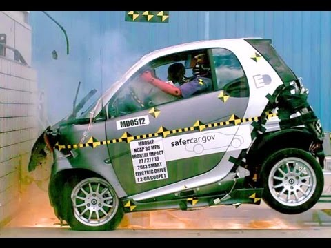 2013 Smart Fortwo Electric Drive | Frontal Crash Test by NHTSA | Crash