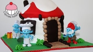 Smurf Cake! Make a Smurfs 2 Smurf Village Cake - A Cupcake Addiction How To Tutorial