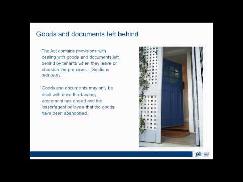 RTA tenancy webinar: Lease break, abandonment and goods left behind (April 2014)