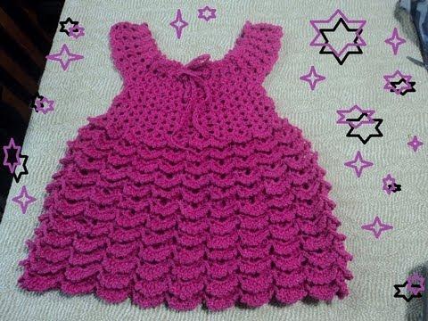 Paso a paso como hacer vestido de niñas a crochet - Imagui