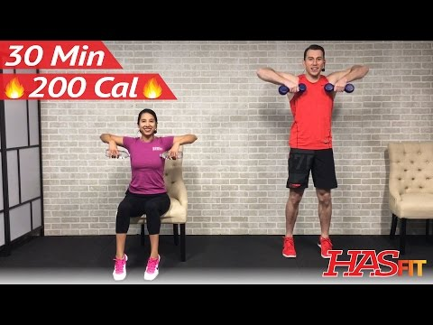 30 Min Standing & Seated Exercise for Seniors, Obese, Plus Size, & Limited Mobility Workout - Chair