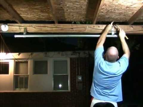 homemade pull up bar for under 20 youtube