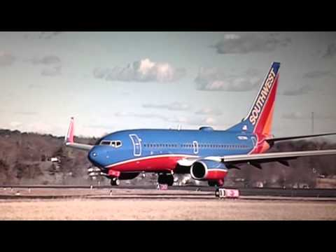 Southwest Airlines PLK-TUL take off. Clark-Taney County Airport. 3738 ft long