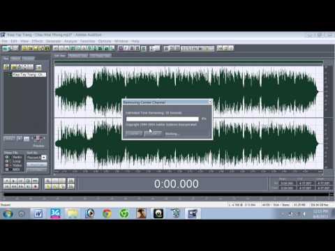 Cách tách nhạc bằng Adobe Audition 1.5