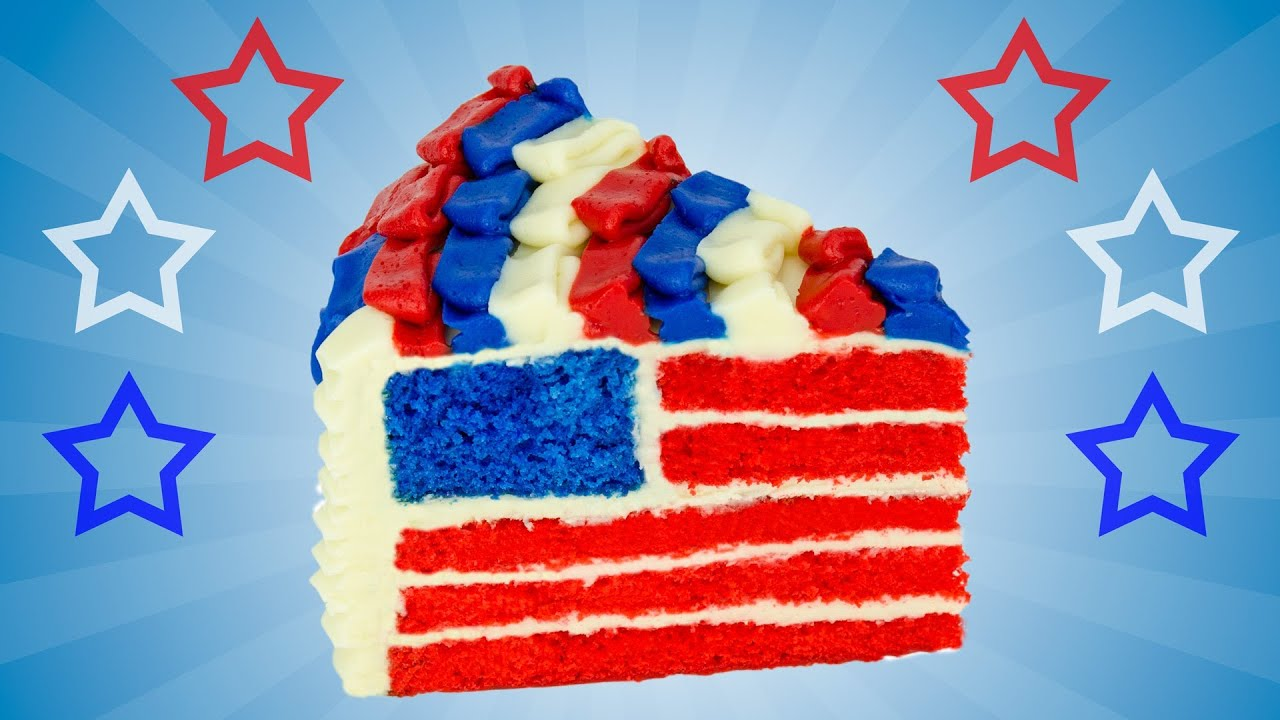 American Flag Cake For The 4th Of July Dessert By Cookies
