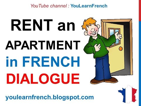 French Lesson 61 - Rent an apartment or a house - Formal Dialogue Conversation + English subtitles