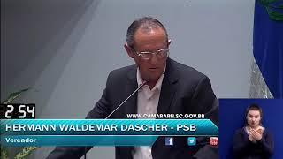 034 - Palavra livre 1, HERMANN WALDEMAR DASCHER (OUTUBRO, DIA 15 SESSÃO ORDINÁRIA 2018)
