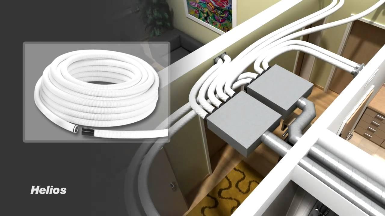 helios flexpipe universal in der sanierung l ftung mit w rmer ckgewinnung kwl youtube. Black Bedroom Furniture Sets. Home Design Ideas