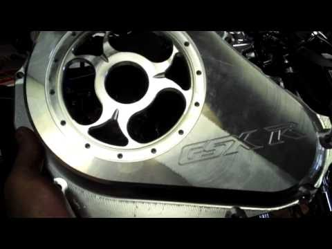 New GSXR 600 750 1000 Clear Clutch and Stator covers with LED option