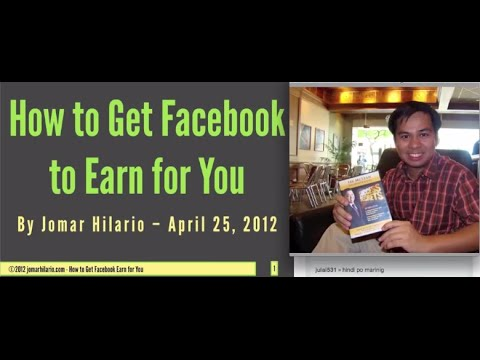 make facebook earn for you large by jomar hilario