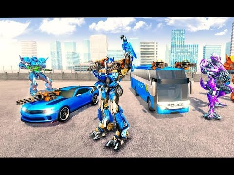 Bus Robot Car Transform War –Police Robot Games | New Rescue City Bus Robot Car Android GamePlay