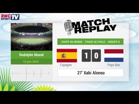 """Mundial 2014 : España - Holanda : El """"Goal Replay"""" con RMC Sport"""