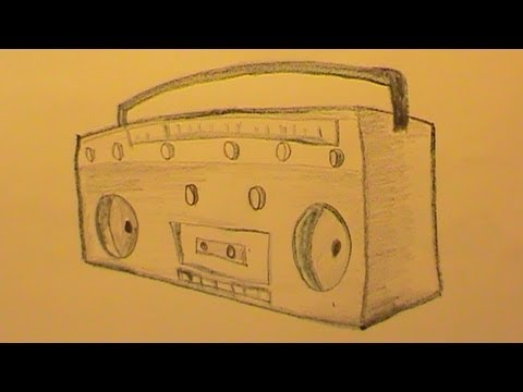 how to draw a cute radio