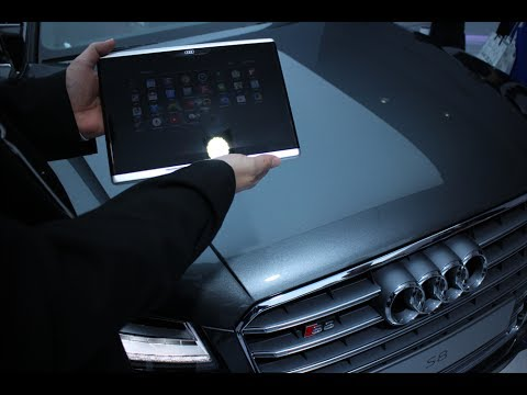 Audi Android Tablet in-car demo at CES 2014