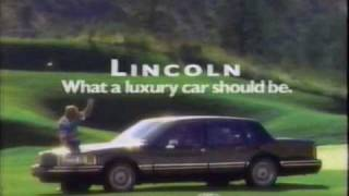 1991 Lincoln Continental And Towncar TV Commercial