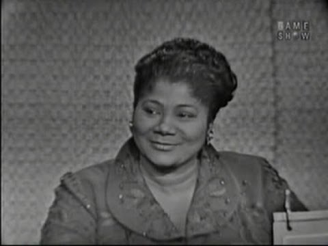 What's My Line? - Mahalia Jackson; Governor Quinn & Betsy Palmer [panel] (Jan 22, 1961)
