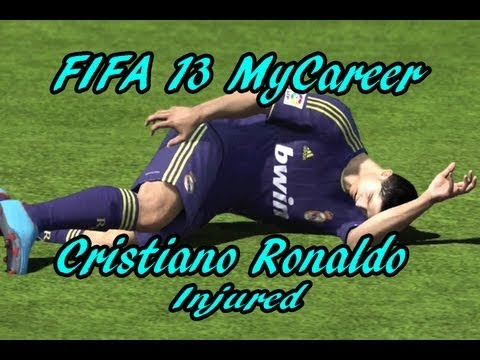 FIFA 13 MyCareer: Cristiano Ronaldo Gets Injured! OH NO!