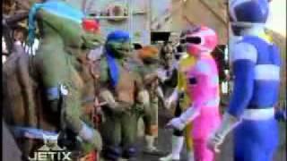 Power Rangers In Space Meet The Turtles