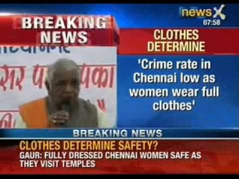 Crime rate in South India low as women are religious, says Chauvinist Neta Babulal Gaur - NewsX