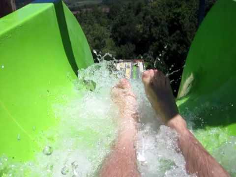 10 STORY HIGH SPEED SLIDE - Mountain Creek Waterpark- H2-Oh-No! 99' vertical drop!!!